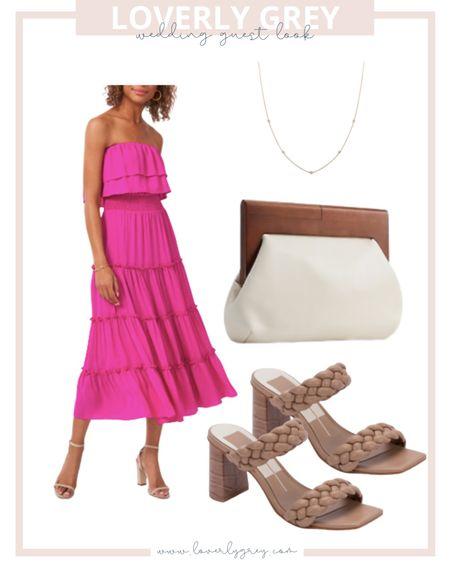 Loverly grey wedding guest dress look.   #LTKstyletip #LTKunder100
