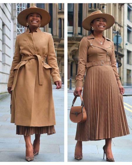 Camel Tones 🍂 @karen_millen in this beaut pleated dress and coat. #KarenMillen AD  http://liketk.it/37Tu7 #liketkit @liketoknow.it