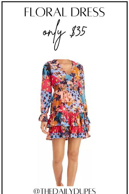 Floral dress #thedailydupes  #LTKunder50 #LTKwedding #LTKsalealert