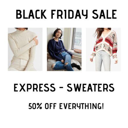 Favorite Express sweaters 50% off! http://liketk.it/32ukg #liketkit @liketoknow.it #LTKsalealert #LTKunder50 #LTKunder100