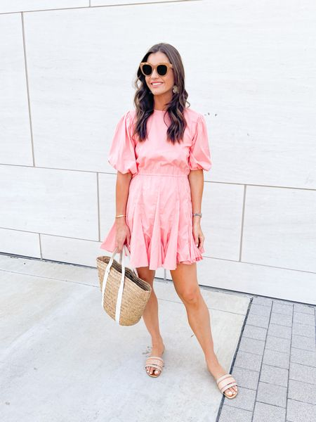 New dress, spray tan and a cancelled vacation 😂 So, date night it is 🥂 🤍 #ootd #fashion #summer #rhode #coral #lespecs #dior #kayu #saks #weekend #boymom #momlife   #LTKsalealert #LTKshoecrush #LTKunder100
