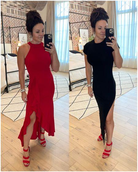 Amazon finds!  Inexpensive yet Fancy dresses  Red dress Black dress Wedding    #LTKunder50