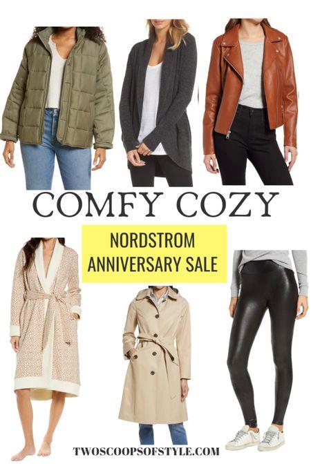 Nordstrom Anniversary Sale Jackets, robe, faux leather moto jacket, leather leggings   #LTKstyletip #LTKsalealert