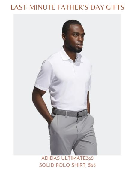 If your dad is into playing golf, he'll appreciate the Adidas Ultimate365 Solid Polo Shirt. The Ultimate365 Solid Polo Shirt is breathable, prevents moisture, and allows for flexible movement. Best of all, the Adidas golf polo shirt is perfect for all seasons of the year. So your dad can wear it any time of the year!  The Adidas Ultimate365 Solid Polo Shirt is available in sizes small through XXL and retails for $65.  #LTKfit #LTKunder100 #LTKmens