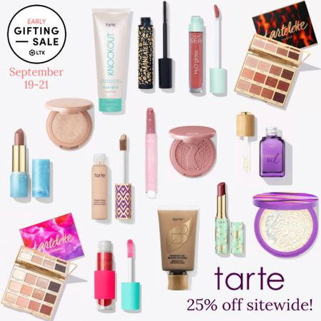 The LTK Early Gifting Sale ends tomorrow! All of your makeup and skincare favorites and bestsellers from Tarte are on sale for 25% through September 21st, only in the LTK app!  . Eyeshadow palette fall makeup lip gloss lipstick face oil foundation mascara blush highlighter lip oil setting powder tinted balm   #LTKsalealert #LTKunder50 #LTKSale