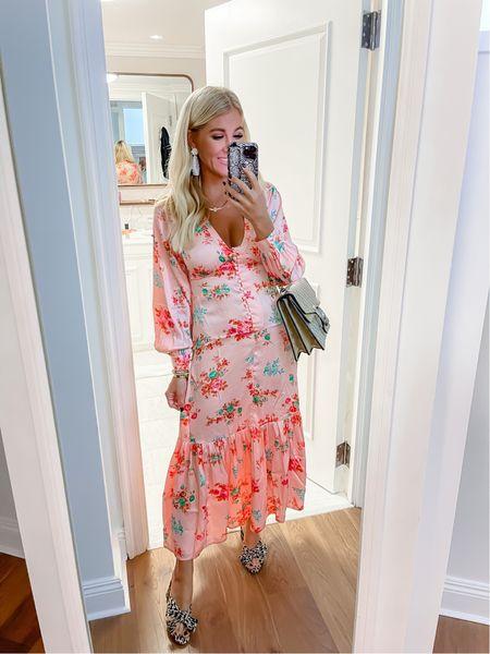 Cutest little $54 floral maxi dress and my fav leopard heels of all time!   #LTKunder50 #LTKshoecrush #LTKtravel