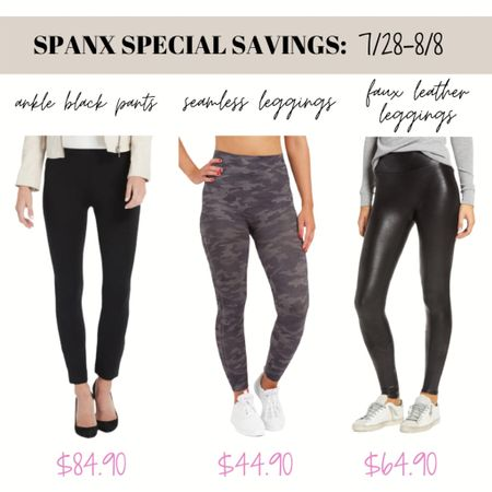Spanx is price matching all Spanx items in the Nordstrom Sale until 8/8!! 👏🏽👏🏽Spanx rarely has sales so shop your faux leather leggings, seamless leggings or perfect black dress pants now to save money! 😍😍   #LTKunder100 #LTKworkwear #LTKsalealert
