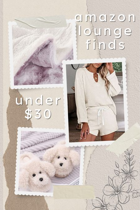 Amazon, loungewear, cozy, comfortable, slippers, matching set, affordable, blanket, Sherpa, under $30, mauve, beige, rainy day, relax   #LTKstyletip #LTKhome #LTKunder50