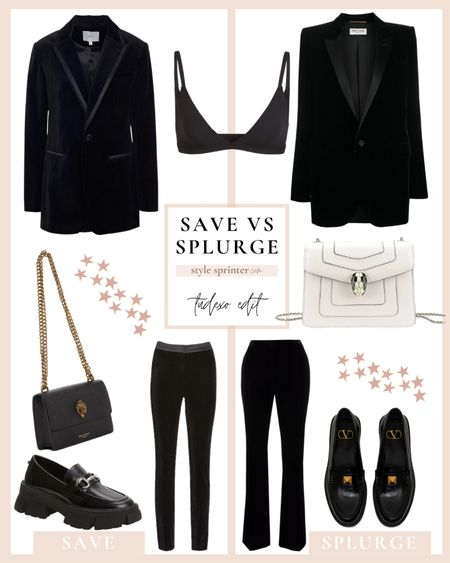 SAVE vs SPLURGE tuxedo edition 🖤 women suit ideas for any budget!  #LTKstyletip #LTKunder100