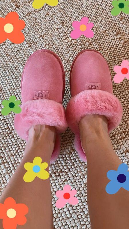 Nordstrom Anniversary Sale pink Ugg slippers STILL in stock! Wearing the 7.. Runs large!!   #LTKshoecrush #LTKsalealert