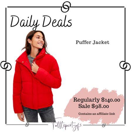 Puffer jacket     #LTKsalealert #LTKSeasonal #LTKHoliday