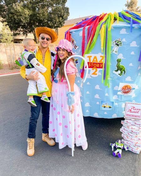 family Toy Story halloween costume! wearing the xl in my Bo Peep costume   #LTKfamily #LTKcurves #LTKHoliday