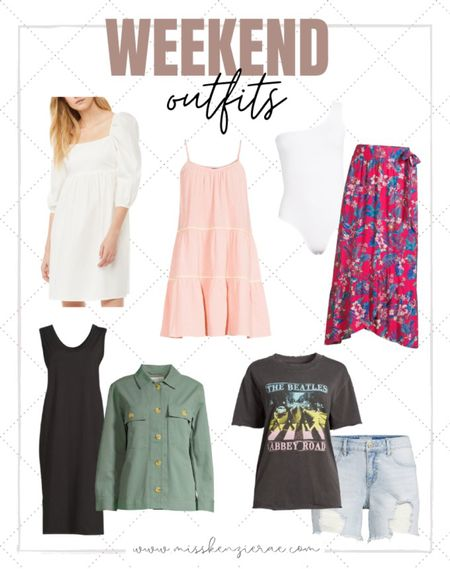 Weekend outfits // weekend looks // affordable style // affordable fashion // summer style // summer fashion // summer dress // summer skirts // bodysuit // Walmart style // Walmart fashion finds // Walmart outfits   @WalmartFashion  @liketoknow.it #liketkit  #LTKunder50 #LTKstyletip #LTKsalealert