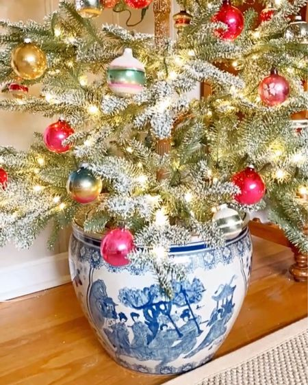 I cannot get over this tree!   #grandmillennial #grandmillennialdecor #grandmillennialchristmas #blueandwhitehome #blueandwhiteforever #chinoiseriechic #howivintage #mysouthernliving #heirloomhome #collected-home #vintagehomecrush #decorcrushing #christmasmantel #Christmas #shinybriteornaments #christmastree #blueandwhite #heirloom #decotvframes #samsungframetv #chinoiserie #homeinspo  #sentimentalattachments http://liketk.it/32AWM #liketkit @liketoknow.it #LTKhome @liketoknow.it.home Shop your screenshot of this pic with the LIKEtoKNOW.it shopping app