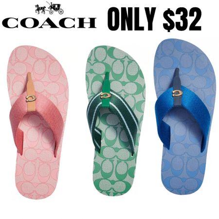 Coach Designer Sandals on sale!  http://liketk.it/3hOTv #liketkit @liketoknow.it #LTKunder50 #LTKshoecrush #LTKsalealert