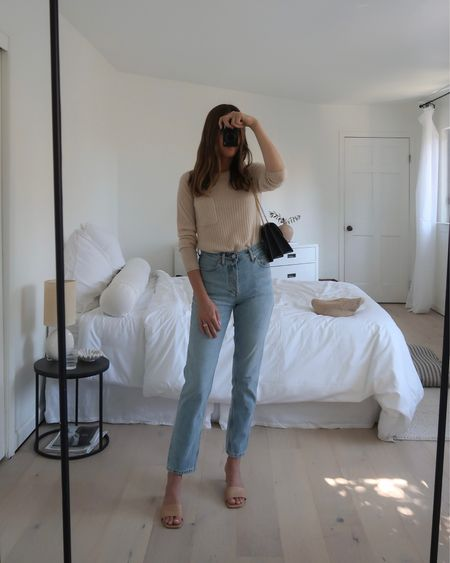 Summer to fall style with lightweight sweaters, light wash denim and strappy sandals. My sweater is currently on sale + I also shared a few home decor/guest bedroom items. 🤍  #LTKhome #LTKunder100 #LTKsalealert