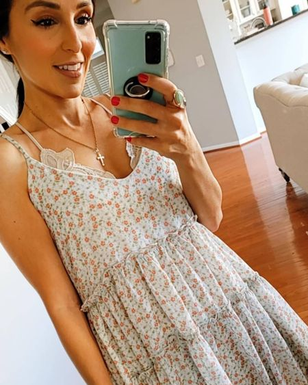 Floral dress from Altar'd State. Size small. Wearing with a bralette. http://liketk.it/3gRLP @liketoknow.it #liketkit