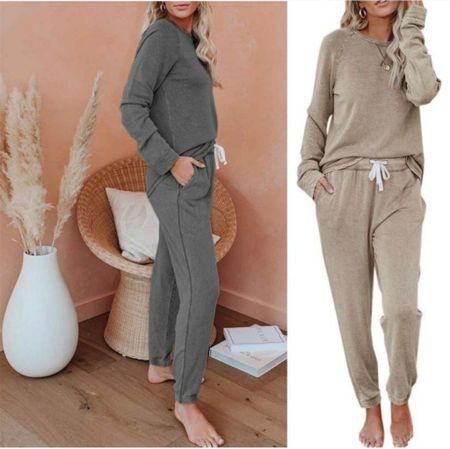 Amazon Sweatshirt, Amazon Sweatpants, Amazon PJs, Amazon Pajamas, Amazon Loungewear, Amazon Fall, Amazon Cozy Fashion  #LTKunder50 #LTKstyletip #LTKSeasonal