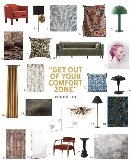Bold Home Decor, Patterns, Color, Lighting, Furniture