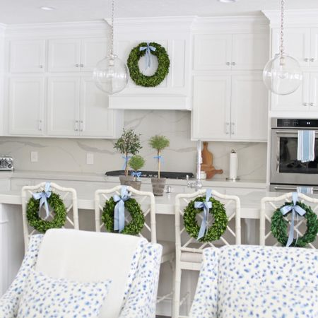 Christmas decor is up! Sharing my favorite boxwood wreaths, worth a purchase for next year and some favorite kitchen items like our pendants that come in three different metal colors and our pull down faucet that has one handle for easy cleaning of anything daily!!    http://liketk.it/33voo #liketkit @liketoknow.it @liketoknow.it.family @liketoknow.it.home #LTKhome #christmasdecor #kitchen #kitchenfaucet #boxwoodwreaths #blueandwhite #blueandwhitekitchen #christmaskitchen