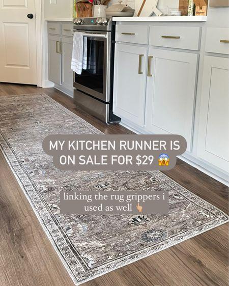 Kitchen runner rug on sale for $29! Rug pad/grippers linked as well http://liketk.it/3jsi1 #liketkit @liketoknow.it #LTKunder50 #LTKhome