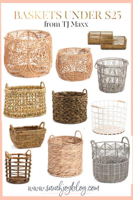 Baskets under $25 from Tj Maxx. http://liketk.it/3hXnj #liketkit @liketoknow.it #LTKunder50 #LTKstyletip #LTKhome