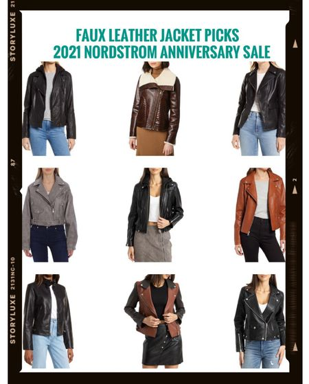 Here are my faux leather jacket picks from the Nordstrom Anniversary sale. They range from $54.90 to $199!      #nordstrom #nordstromsale #nordstromanniversarysale #nordstromsale2021 #2021nordstromsale #2021nordstromanniversarysale #nordstromjacket #nordstromfall #nordstromjackets #jackets #fauxleatherjacket #motojacket #nsale          #LTKworkwear #LTKsalealert #LTKunder100