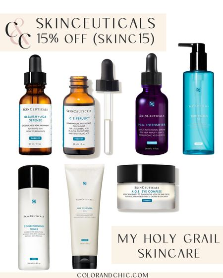 Skinceuticals sale! Get 15% off with code SKINC15! This is my holy grail skincare and the blemish + age defense is what cured my adult acne after months of trying other projects. Love the C E Ferulic antioxidant serum and anyone can add it to their routine. If you have super oily skin, try the Silymarin CF   #LTKbeauty #LTKsalealert