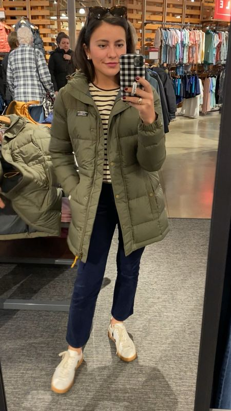 This jacket is absolutely perfect for chillier seasons! 🍂 #winterjacket #falljacket #parka #llbean #olivejacket #neutraljacket