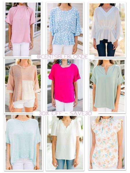 Spring and Summer tops from shop the mint  Dressy tops for work and church   http://liketk.it/3gyXs #liketkit @liketoknow.it #LTKsalealert #LTKDay #LTKunder50
