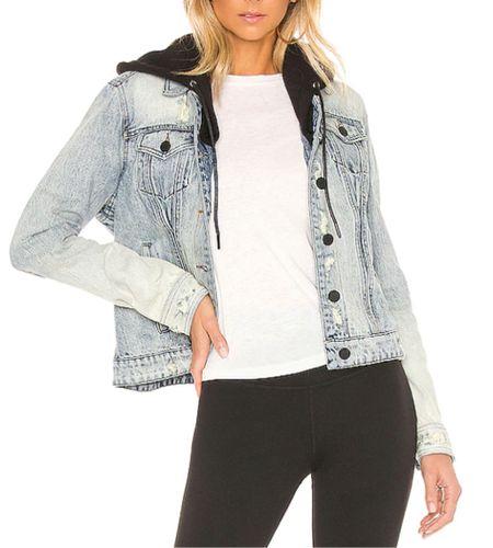 Denim jacket with hoodie, Amazon fashion, Amazon find   #LTKunder100 #LTKstyletip