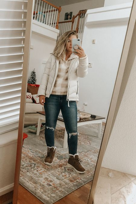 Felt v Colorado and had to document!  Target's boots are BOGO 50% off 🙌🏼 this sherpa from Kohl's is 20% right now! SO warm cute for snowy days ❄️  #LTKunder50 #LTKsalealert #LTKFall