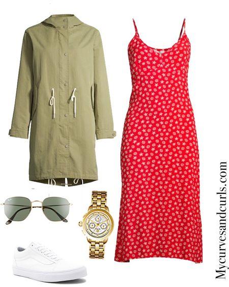 Early fall outfit from @walmart   #plussize  #slipdres #parka #plussizefashion   #LTKcurves #LTKstyletip #LTKfamily