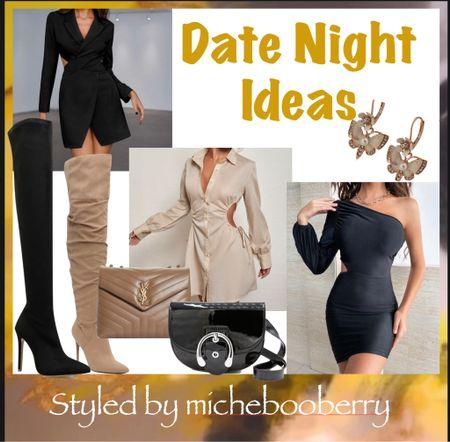 #fall #fall2021 #date #datenight # #dresses #cutout # boots #overtheknee #overthekneeboots #handbags #luxury #purses     #LTKGiftGuide #LTKshoecrush #LTKitbag