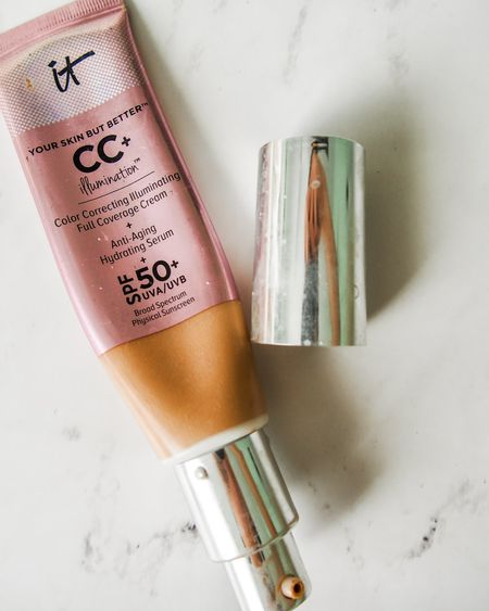 It's National CC Cream Week! To celebrate, Ulta is including a free limited edition IT Cosmetics Airbrush Dual-Ended Flawless Complexion Concealer & Foundation Brush #132 with the purchase of a full-size CC+ Cream in Original or Illumination.  The CC+ Cream is a multitasking product that can be used as a full-coverage foundation or tinted moisturizer. It is ideal for anyone who wants softer, smoother skin with the reduced appearance of pores and wrinkles. I love the CC+ Cream because it's perfect for the summertime. Find it in your shade at Ulta for $39.50.  And when you purchase the IT Cosmetics CC+ Cream, you'll receive a free Airbrush Dual-Ended Flawless Complexion Concealer & Foundation Brush #132!  #LTKunder50 #LTKSeasonal #LTKbeauty