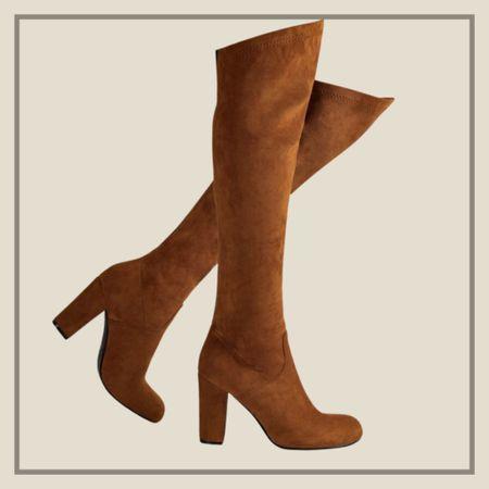 Brown suede like high knee boots  #LTKunder50 #LTKstyletip #LTKshoecrush