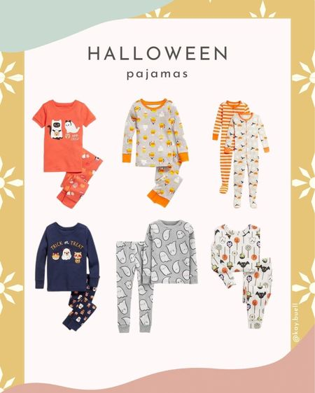 Halloween pj's for toddlers and kids!   #LTKbaby #LTKfamily #LTKkids