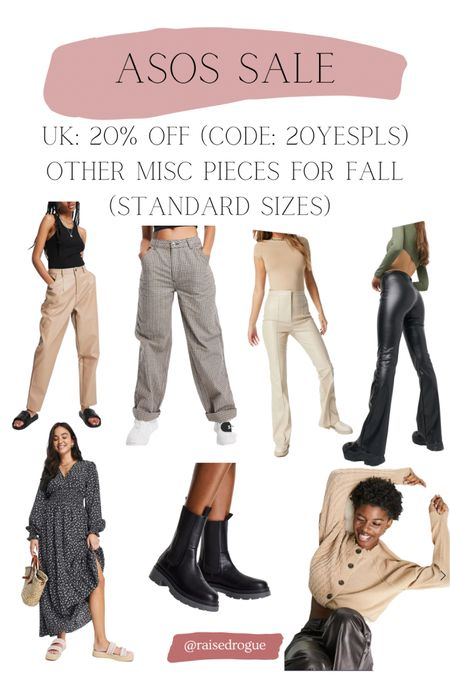 Fall styles 20% off in the UK like faux leather pants, boots, and cable knit sweaters! Code: 20YESPLS   #LTKsalealert #LTKunder100 #LTKbacktoschool