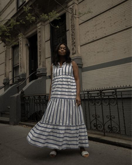 striped blue & white maxi dress 🤍💙 http://liketk.it/3f0gX #liketkit @liketoknow.it #STSCharades
