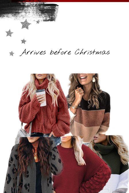 Christmas sweaters arrives before Christmas 🎄   #LTKgiftspo #LTKstyletip #StayHomeWithLTK