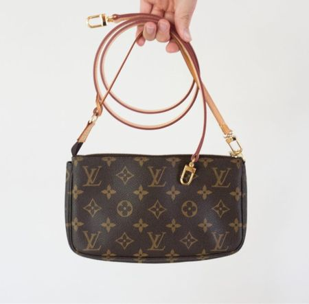 Another affordable leather crossbody strap option for the Louis Vuitton pochette accessories.  #LTKitbag #LTKunder100