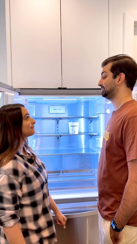 What men see vs what women see 😂 I mean, is this video just not spot on?! Hi, it's @nextwithnita! My hubby and I love doing fun little skits and reels that are…well, accurate. Haha! I feel like this applies to everything though—anyone else's husband struggle to find things around the house even though it's basically right in front of them?! Speaking of fridge, we actually got a new one recently and love how spacious this one is! Plus it makes craft ice!! I'll link this + our fridge containers and organizers here! Xo #LTKTakeoverTuesday    #LTKhome
