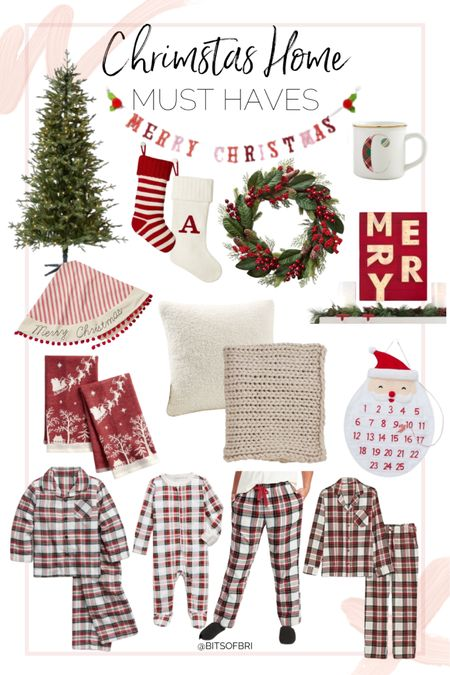 All of the must haves for a cozy Christmas!   Christmas tree. Stockings. Wreath. Throw blanket. Pillow. Mug  Christmas pajamas. Christmas decor. Home decor. Holiday must haves.   #LTKhome #LTKSeasonal #LTKHoliday
