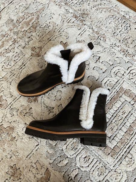 Marc fisher shearling lined black winter boots - these run slightly large   #LTKSeasonal #LTKshoecrush