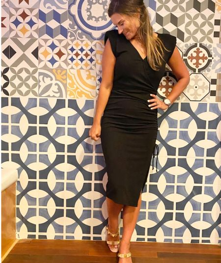 Date night dress - everything is true to size. Wearing a small in the dress. Shoes linked are similar ones since mine are no longer available  Date night  Dress Black dress Gibson Amazon   #LTKstyletip #LTKunder100 #LTKHoliday