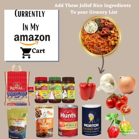 #LTKrecipe Add these ingredients to make your Jollof Rice 🍚. Learn how to prepare Jollof here https://minnafropolis.com/2021/06/10/back-to-basics-cooking-with-black-owned-spices-as-a-lifestyle/