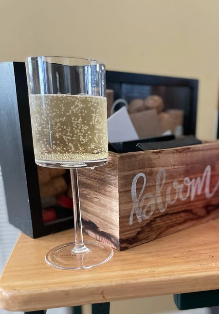 Wine glasses + His and hers cork display  #LTKhome #LTKunder100