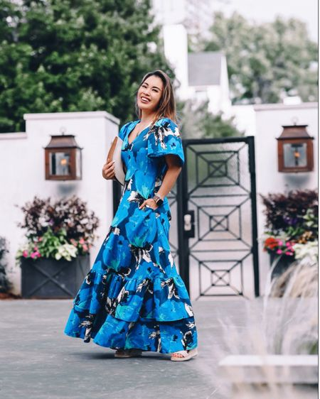 Target Christopher John Rogers designer dress  Blue floral vacation special occasion spring summer outfit - 0 / TTS   @liketoknow.it http://liketk.it/3hAGo #liketkit #LTKunder50 #LTKwedding #LTKsalealert