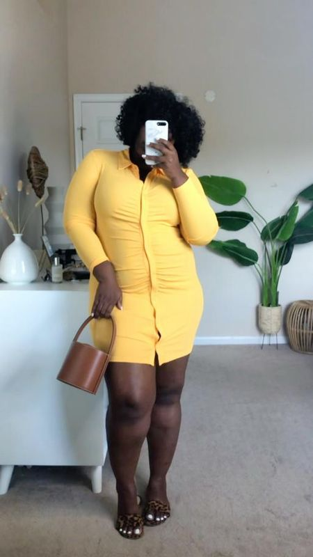 Draped Dress Dress, summer dress, yellow summer dress, #PlusSize Summer dress, #BlackGirlMagic #BlackGirl #BlackWoman #BlackGirlStyle #WeekendOutfit #LTKVideo  #LTKSeasonal #LTKcurves #LTKunder50