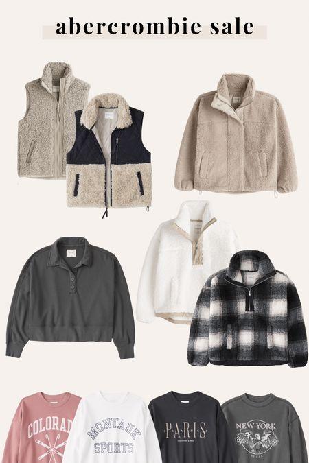 A&F Abercrombie sale - Sherpas & fleece $49+   #LTKunder100 #LTKsalealert #LTKunder50
